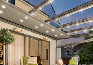 Glass Veranda with LED Lights
