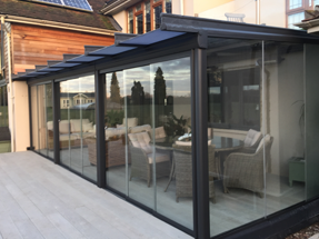 Glassroom with LED Lights, Heating, and Decking, Buckinghamshire 31st January 2017