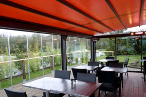 Closed PergoTex retractable roof system