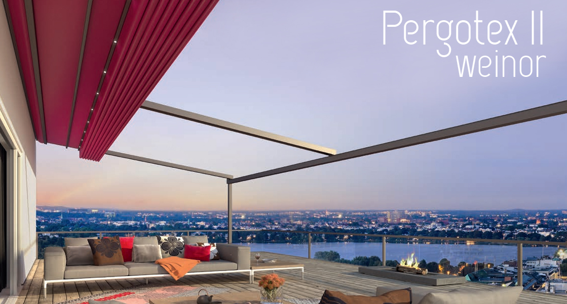 PergoTex II retractable roof from Weinor
